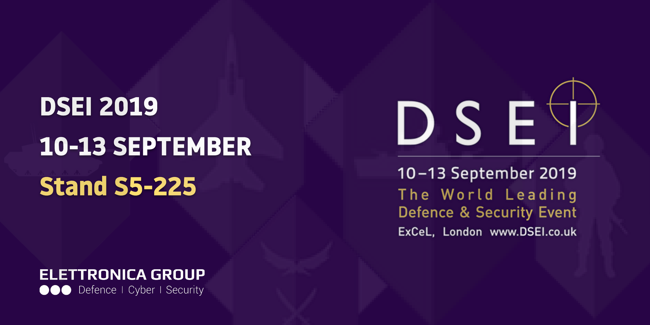 ELETTRONICA GROUP AT DSEI 2019